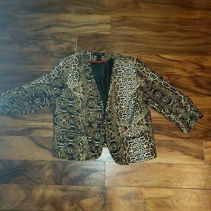 Ashley Stewart Leopard Print Blazer Plus Size 18